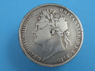 1822 KING GEORGE IV - SILVER CROWN COIN - LAUREATE HEAD - Tertio Edge