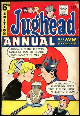 JUGHEAD ANNUAL 1958 Golden Age giant-size comic book #6 ARCHIE, BETTY, VERONICA,