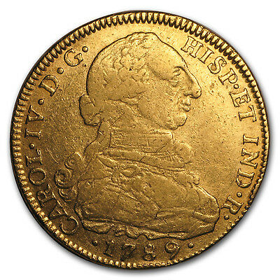 Colombia Gold 8 Escudos Cleaned (Random)