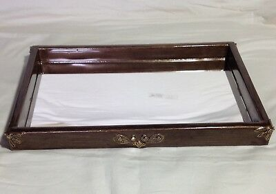 Mike & Ally Beaumont Tray with Mirror Bronze Enameled Jeweled NWT $285.00