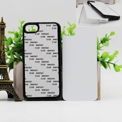 5X Full Cover 2D DIY PC Blank Sublimation Print Case For Iphone XS X 8 7 6s Plus