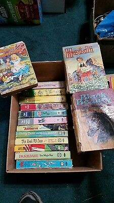 Lot of 15 vintage books hardcover Alice in Wonderland, The Real McCoys, Tom Sawy
