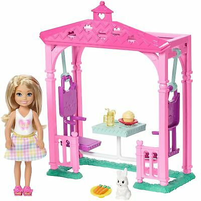 Barbie FDB34 Club Chelsea Picnic Doll and Playset Toy with Bunny and Food