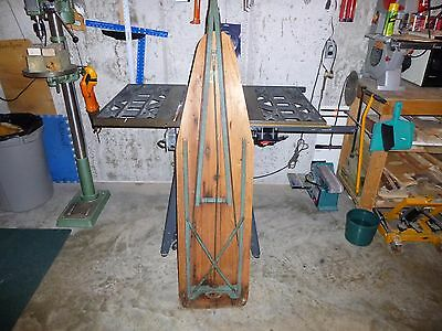 Antique Wooden Ironing Board Iron-O-Matic