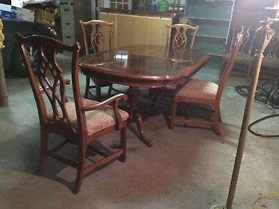 Dining room set by Universal, Alexander Julian Home, 6 chairs with china cabinet