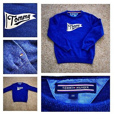 Tommy Hilfiger Knitted Jumper - Blue - Tommy Logo - Age 6 Years - £12.50 Inc P&P