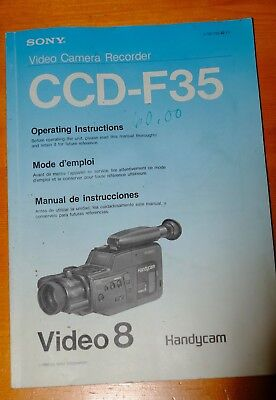 Sony Video Cam CCD-F35 Operating Manual