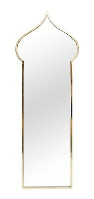 Large Gio Ponti Style Moroccan Arab Inspired Brass Mirror Frame Made in Italy