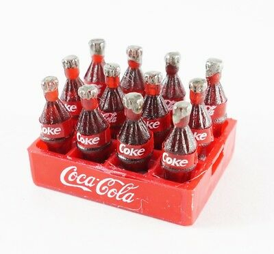 12 CoCa-Cola COKE BOTTLES IN TRAY Soda Drink FRIDGE MAGNET MINIATURE COLLECTIBLE