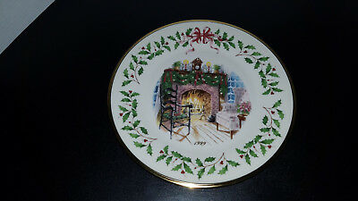 LENOX 9TH Annual Holiday Collector Plate 1999 WINTER'S WARMTH No Box MINT