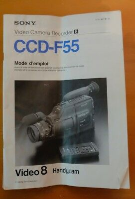 Sony Video Cam CCD-F55 Operating Manual