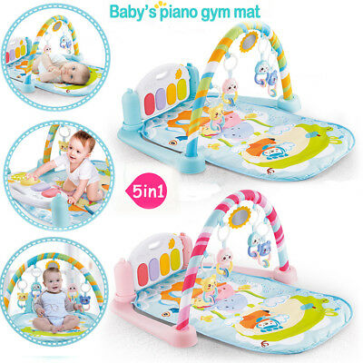 Baby Gym Play Mat Lay + Play 5 in 1 Fitness Music And Lights Fun Piano Boy Girl