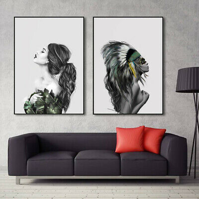 Nordic Modern Abstract Inkjet Canvas Painting Women Art Poster Prints Wall Decor