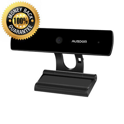AUSDOM Webcam 1080P Full HD with Stereo Microphone, Web Camera PC Video Chat...