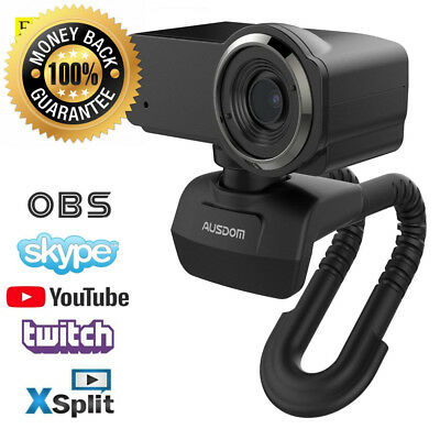 AUSDOM HD Webcam Streaming, Widescreen Full 1080P Video Calling and...