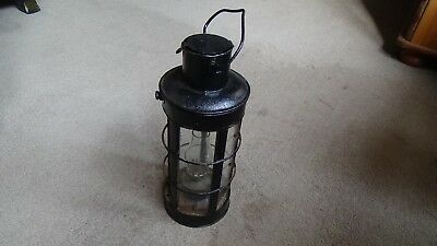 Old Trench Style Lantern With Oil Burner And Glass Shade Ww1 Era