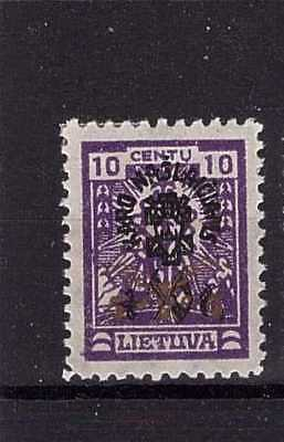 Lithuania 1926 AJ No. 249I WM vertical honeycombs MH