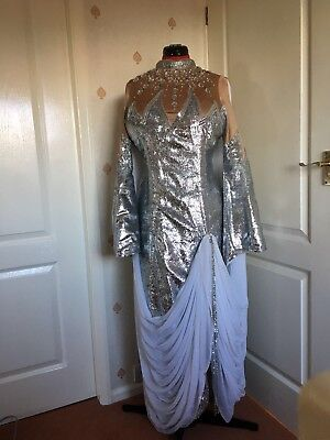 Silver Stage Fairy/Dame Dress | Panto, Pantomime, Stage, Theatre, Drag