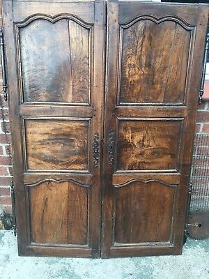 Antique French Golden Oak Doors With Hardware