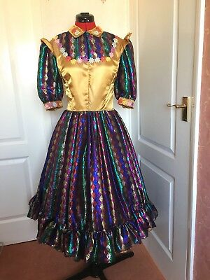 Gold and Rainbow Principal Girl Costume | Pantomime, Panto, Theatre, Stage