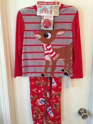 Rudolph the Red-Nosed Reindeer Pajama Set with Red Nose Big Kids Medium