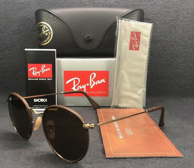 Ray Ban RB3475Q 9041 Leather Craft Brown Leather   Brown 50mm Sunglasses f6a50b6c73