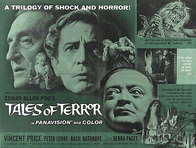 Tales of Terror - Vincent Price - Peter Lorre - A4 Laminated Mini Movie Poster