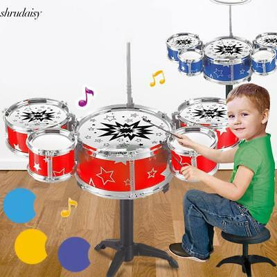 New Kids Toy Jazz Drum Kit Musical Instrument Toy Early Educational Toy for Gift
