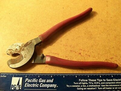 "KLEIN TOOLS 9-1/2"" L HIGH-LEVERAGE CABLE CUTTER Shear Type Steel Jaws 63050"
