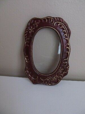 Dollhouse Miniature 1:12 Bespaq Oval Mahogany Wood Picture Wall Frame # 4804 MHG