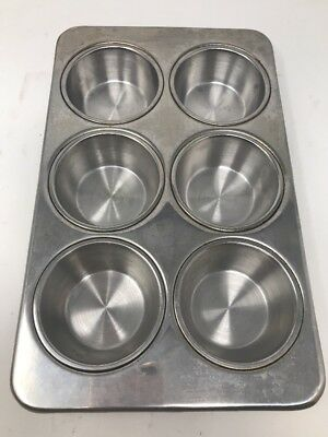 Revere Ware Stainless Steel Muffin Pan 6 Cups