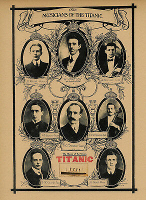 Titanic Band Advertisement White Star Line Reprint On 100 Year Old Paper *158