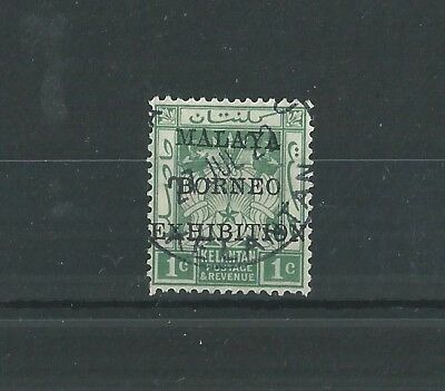 KELANTAN 1922 MALAYA-BORNEO EXHIBITION 1c SUPERB USED