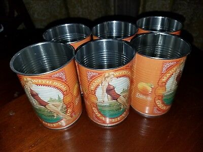 Deep Eddy Ruby Red Grapefruit vodka collectible tin cups - Lot of 6