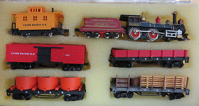 Bachmann Old Timer 4-4-0 Union Pacific Set With Micro-Train Couplers N-Scale
