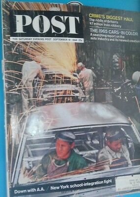 """saturday Evening Post"" 19 Sep 1964 ....vintage  Iconic S  Current Affairs Mag"