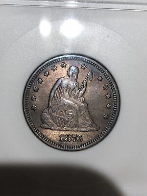 1876 25C Liberty Seated Quarter EF40 Patina