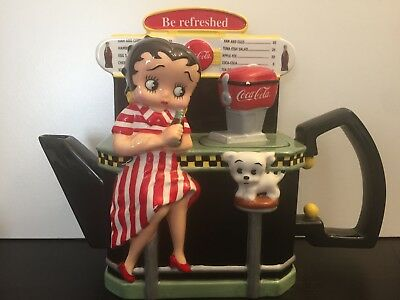 Betty Boop Coca Cola Premier Edition Fountain Tea Pot  #706/4800
