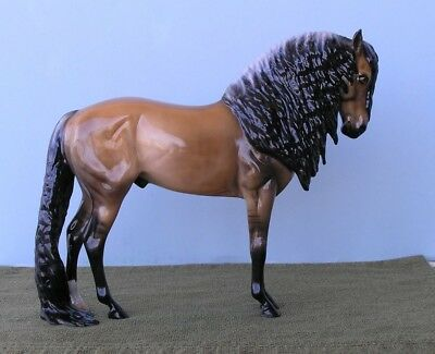 Peter Stone Design-A-Horse Andalusian Long Mane/Tail, Frosty Dun, Glossy New!