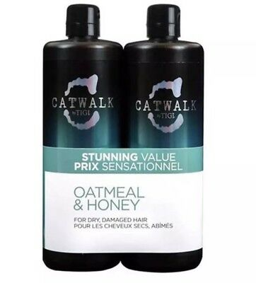 NEW TIGI Catwalk Oatmeal & Honey Tween Set: Shampoo 25.4oz & Conditioner