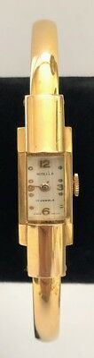 Vintage NITELLA 17 Jewels Gold plated Art Deco Swiss made women's Wristwatch