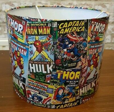 Marvel avengers super hero ceiling light shade handcrafted NEW IN LARGER SHADES