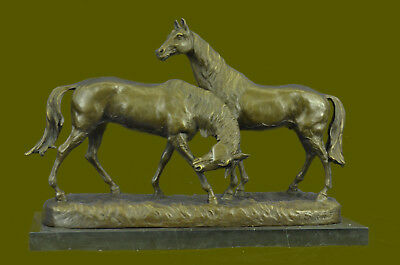 Handcrafted Museum Quality Classic Horses Artwork by Carvin Bronze Statue Sale