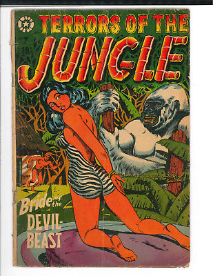 TERRORS OF THE JUNGLE #7 (1953) - Star Publications HTF book. Only one on ebay!