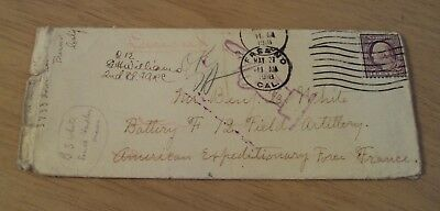 1918 WWI Letter to a KILLED Calvary Soldier~OFFICIAL Deceased Stamping~