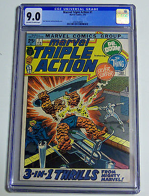 Marvel Triple Action #1 Cgc Oww Silver Surfer,doom, Thing 2/72
