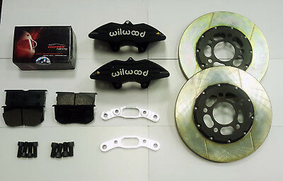 Gravel big brake kit for lancer evo 5-9 and 10, wilwood calipers, 2-piece discs