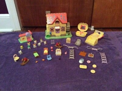 Hamtaro Ham Ham House & Hamster Figures Compacts Accessories Epoch Lot I#521