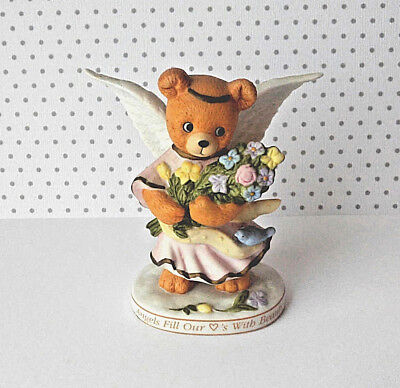 Heavenly Teddies Vintage Figurine Bronson Collectibles 1996 Angels Fill Hearts