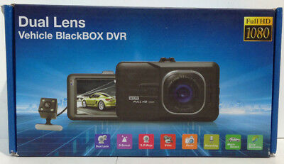 Dash Cam Dual Lens Vehicle Blackbox DVR Full HD 1080 W22-A2